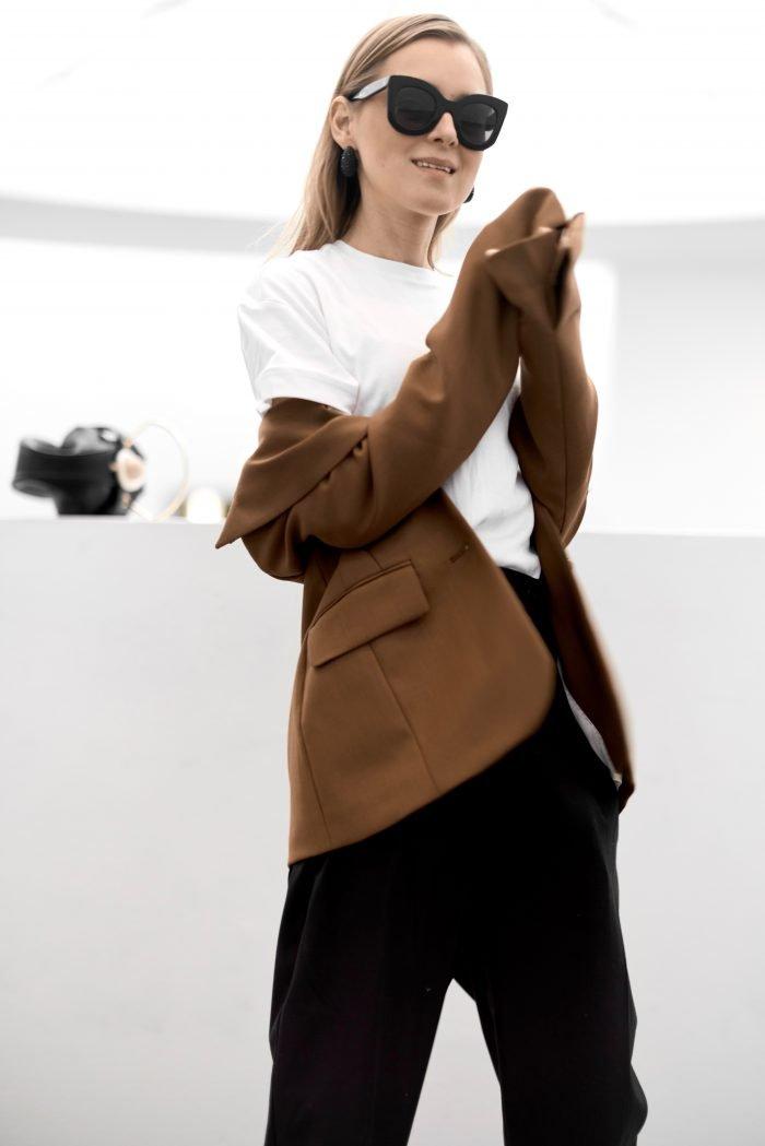 brown blazer H&M Trend women