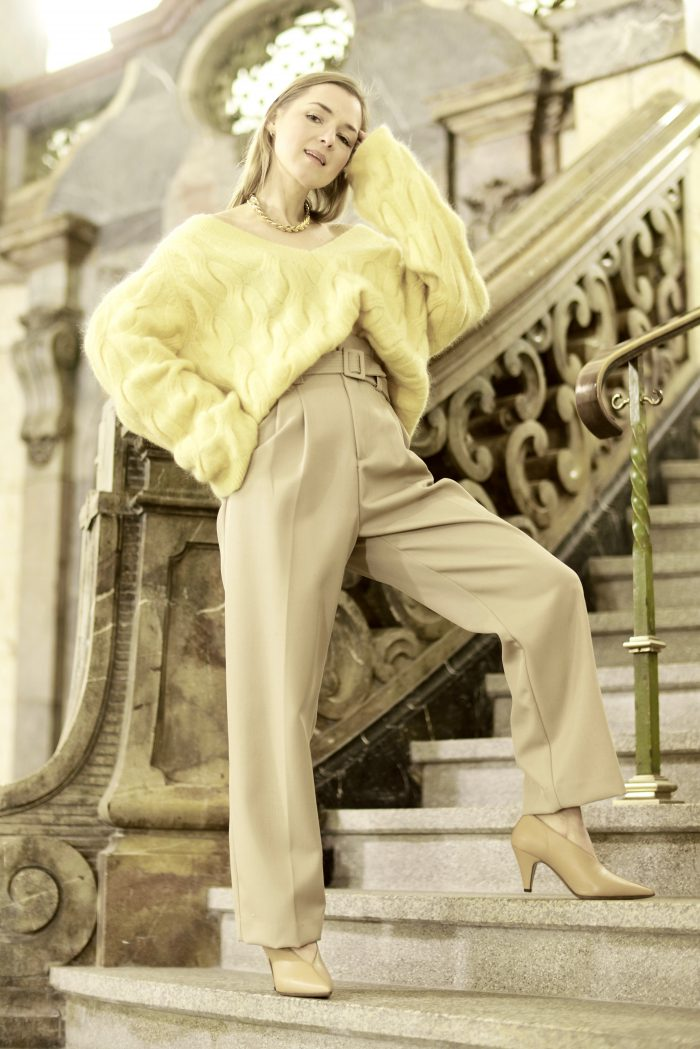 Beige Trousers H&M