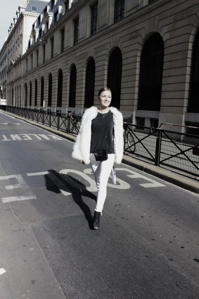 Streetstyle Paris glitter Boots