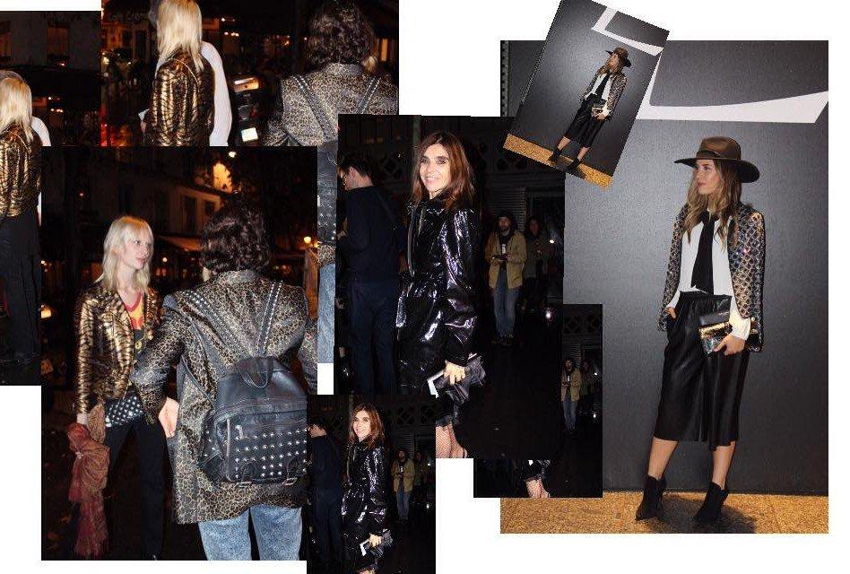 Saint Laurent Fashion Show, Front Row 2015, carine roitfeld