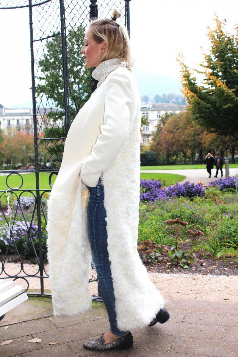 heller Mantel lang