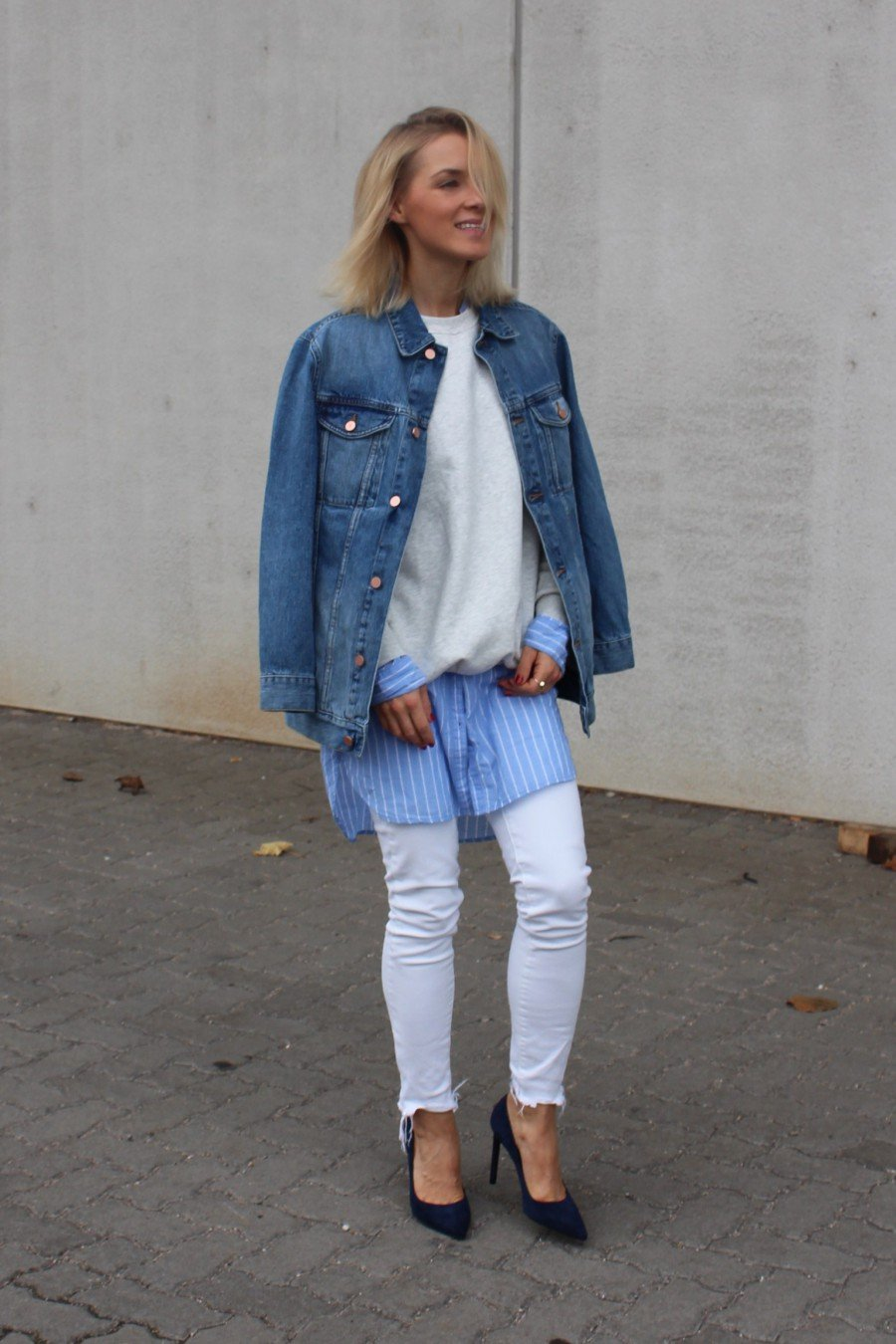 denim look mit Jeansjacke