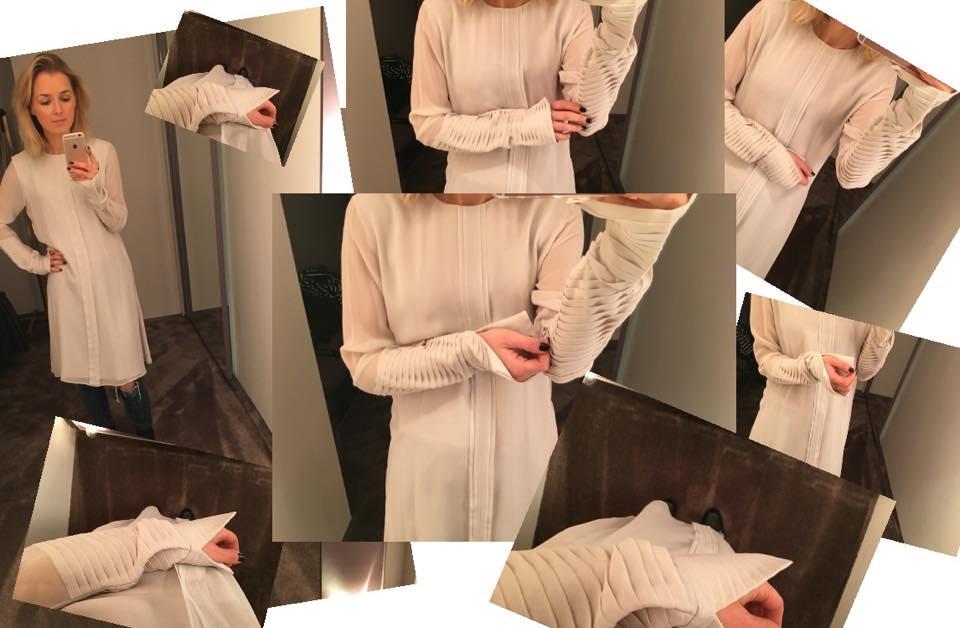 Dorothee Schumacher Look Seidenkleid beige
