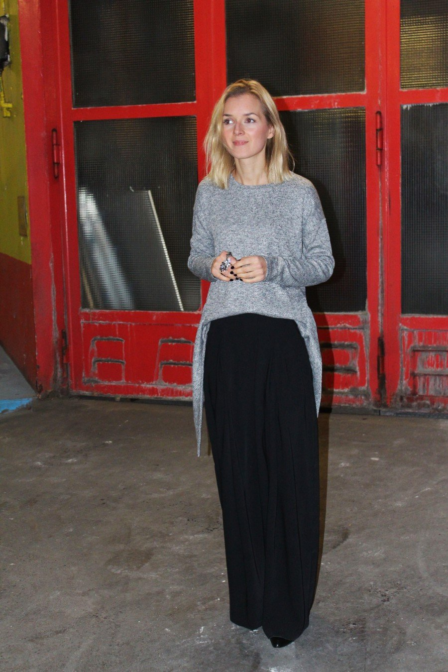 streetstyle fashion weite hose