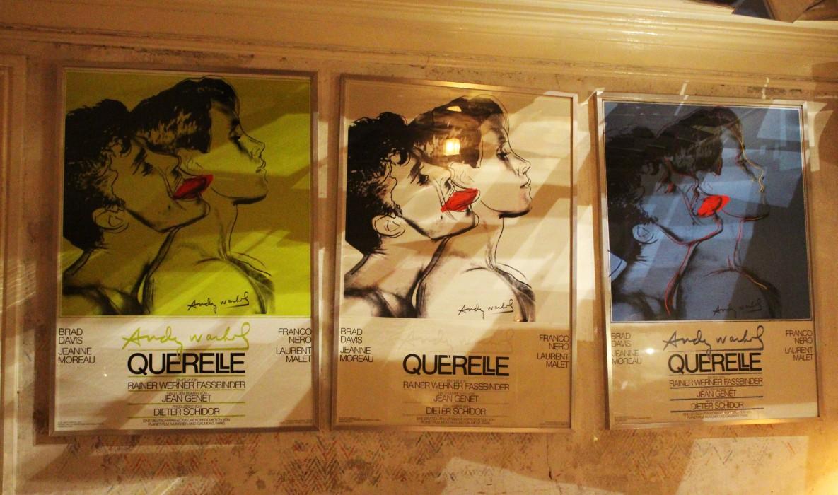 Derriere Paris Restaurant, Andy Warhol