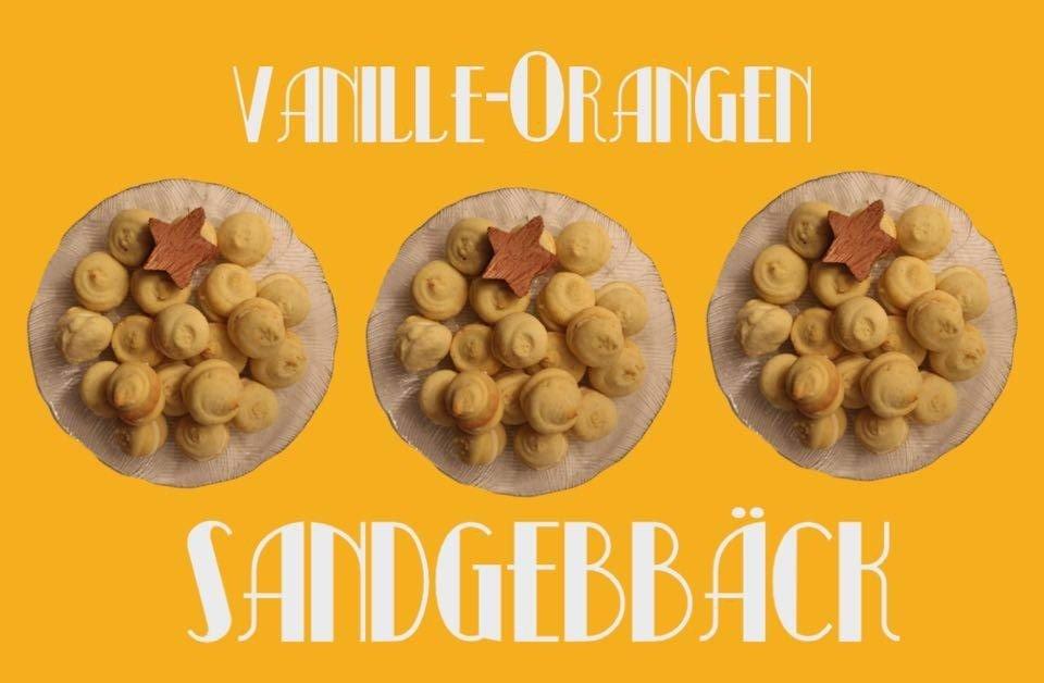 Vanille-Orangen Sandgebäck