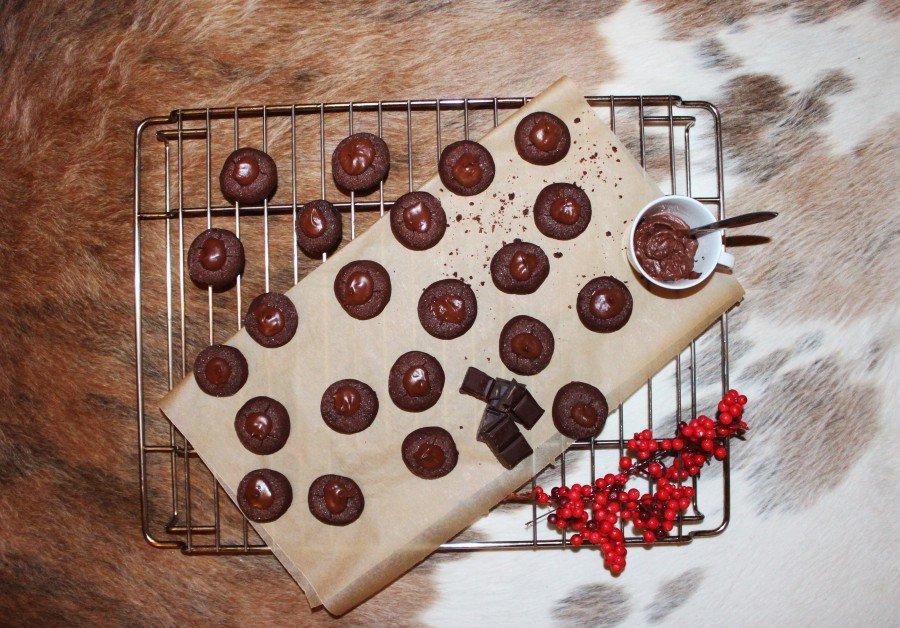 Weihnachtsplätzchen aus Schokolade