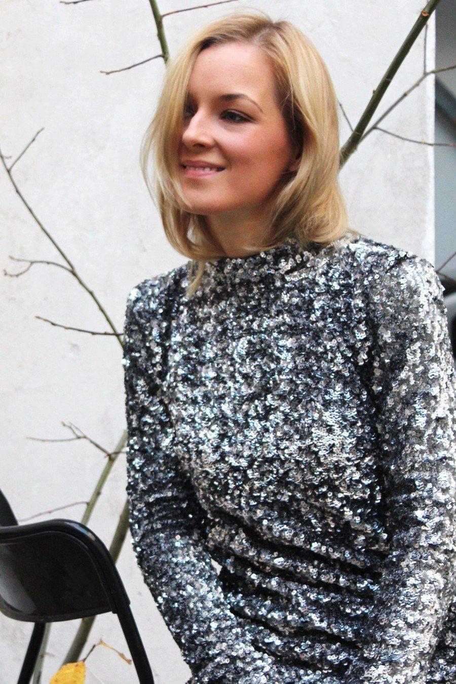 Glitzer Kleid H&M