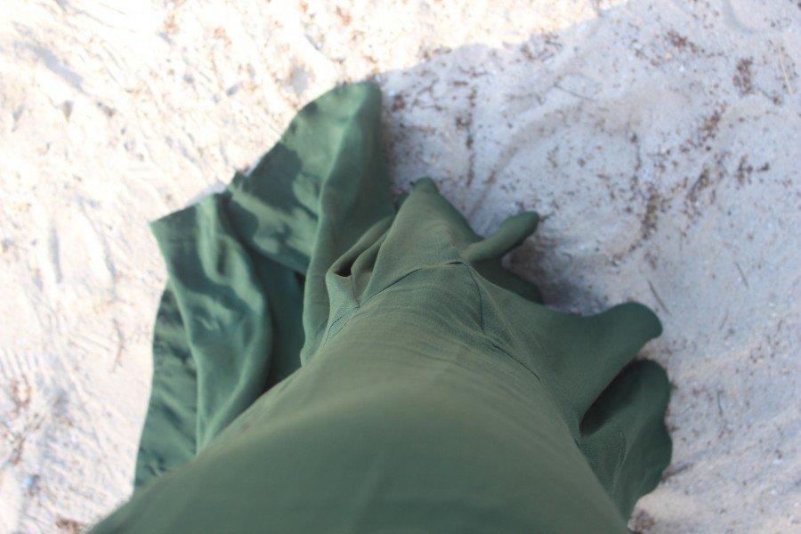 maxikleid Asos blogger grün