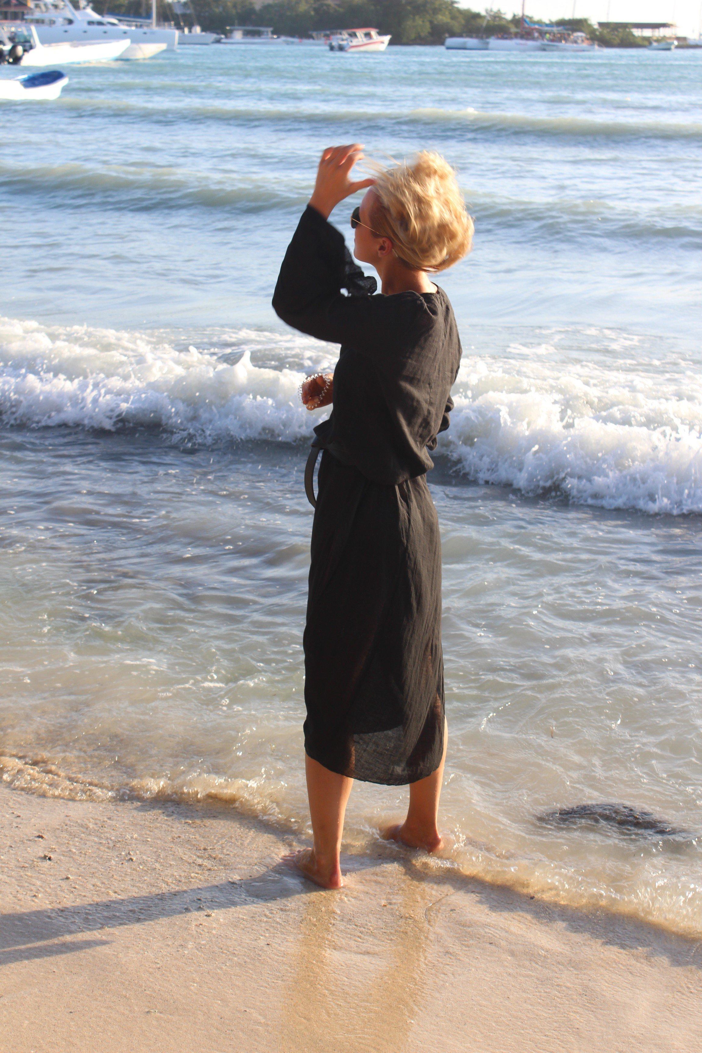 schwarzes Kleid blogger