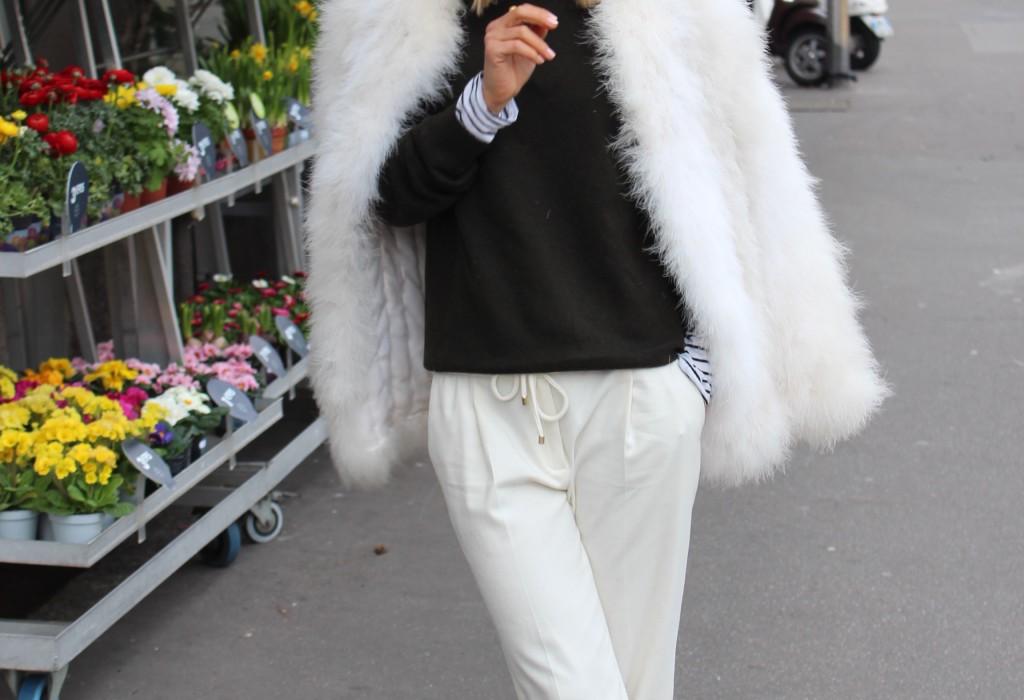 grüner Cashmere Pullover Blogger