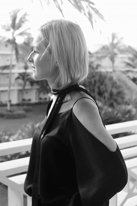 Fashion Blogger make Up blau