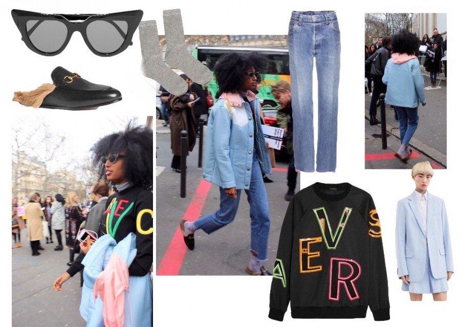 Julia Sarr Jamois Streetstyle Paris Fashionweek 2016