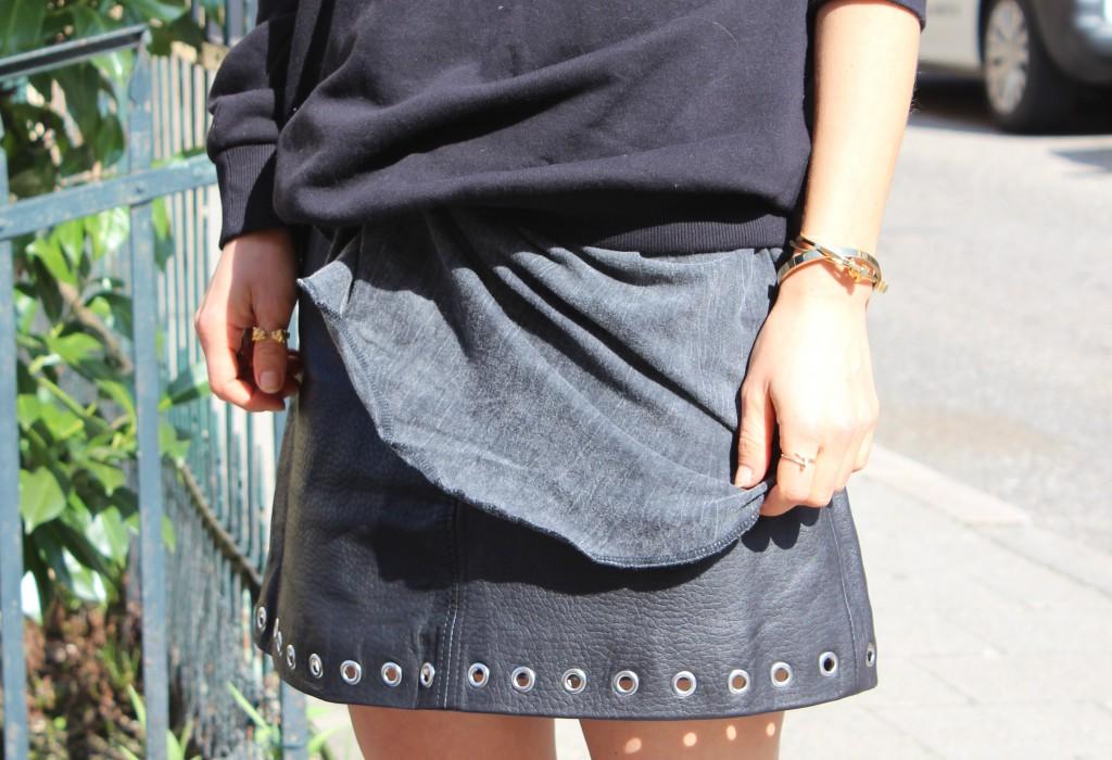 Blogger Skirt black leather
