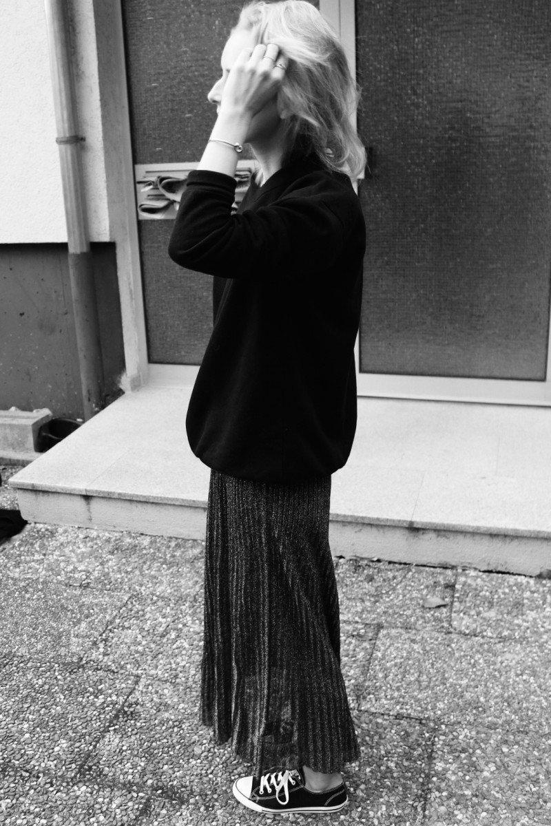 schwarzer oversized sweater h&m