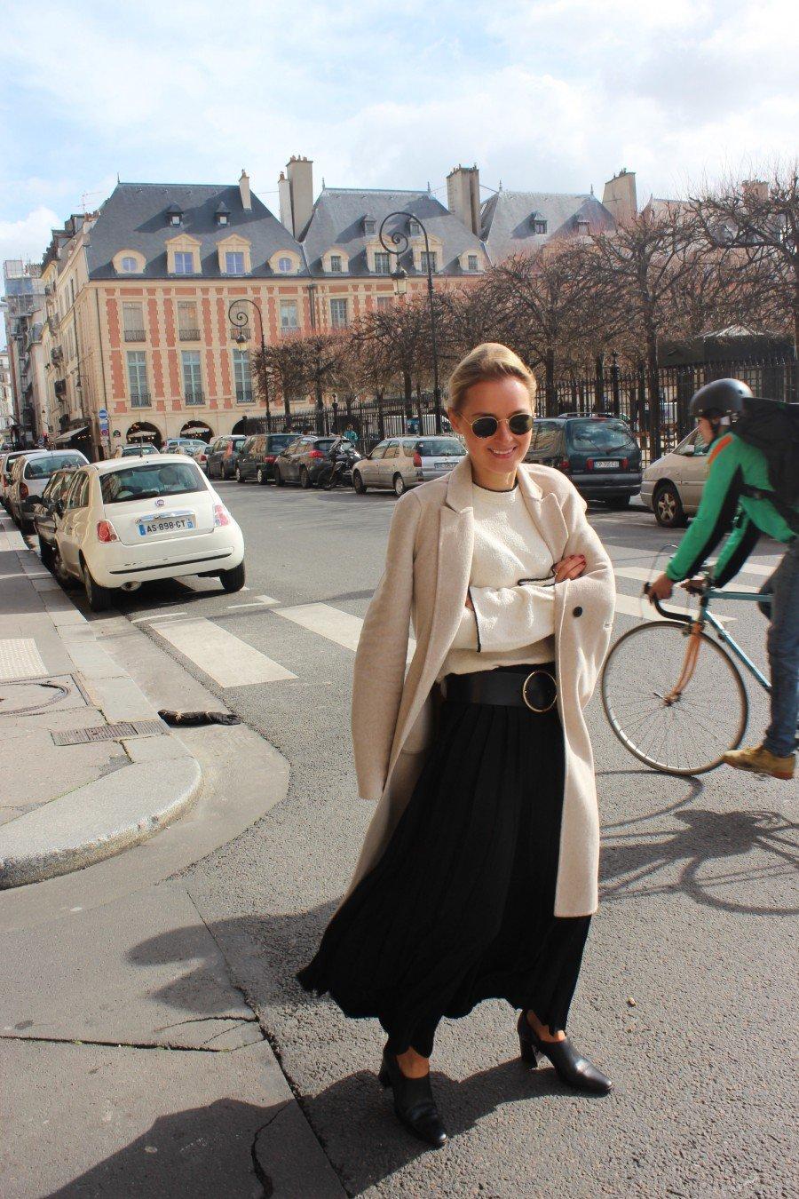 Fashion Blogger Hosenrock schwarz