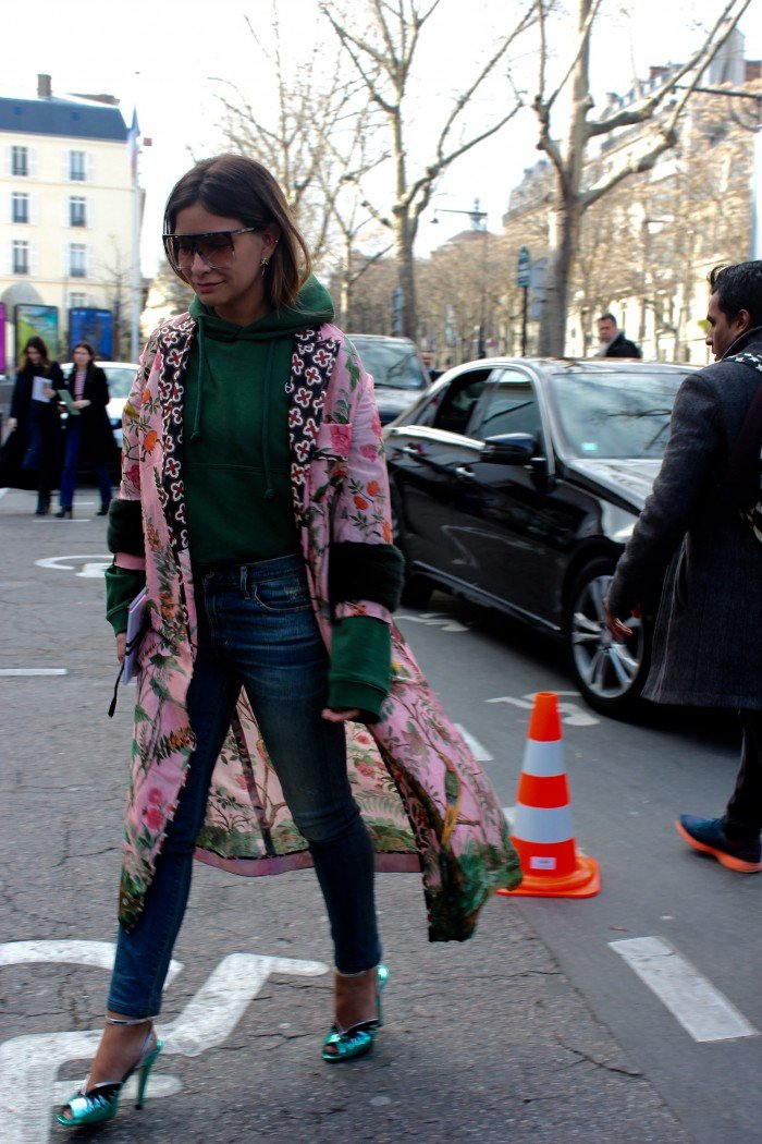 Streetlook in Paris Fashion Week