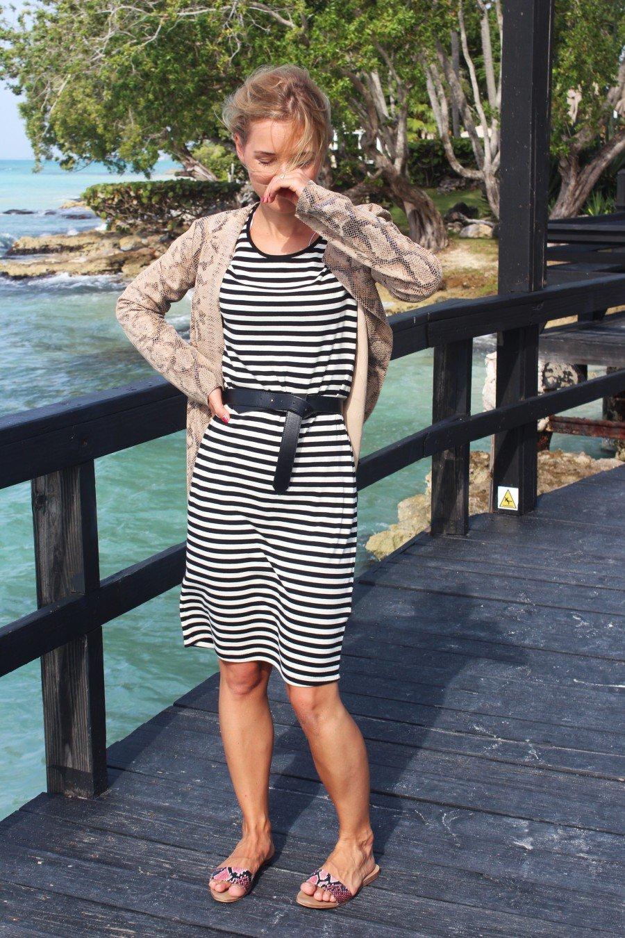 gestreiftes Kleid H&M