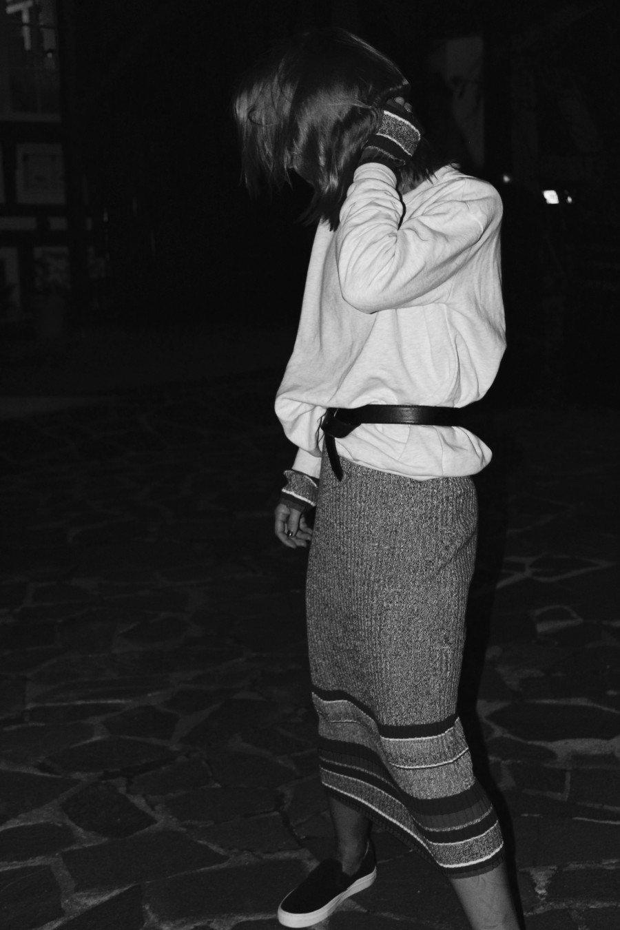 Rippstrick Kleid H&M