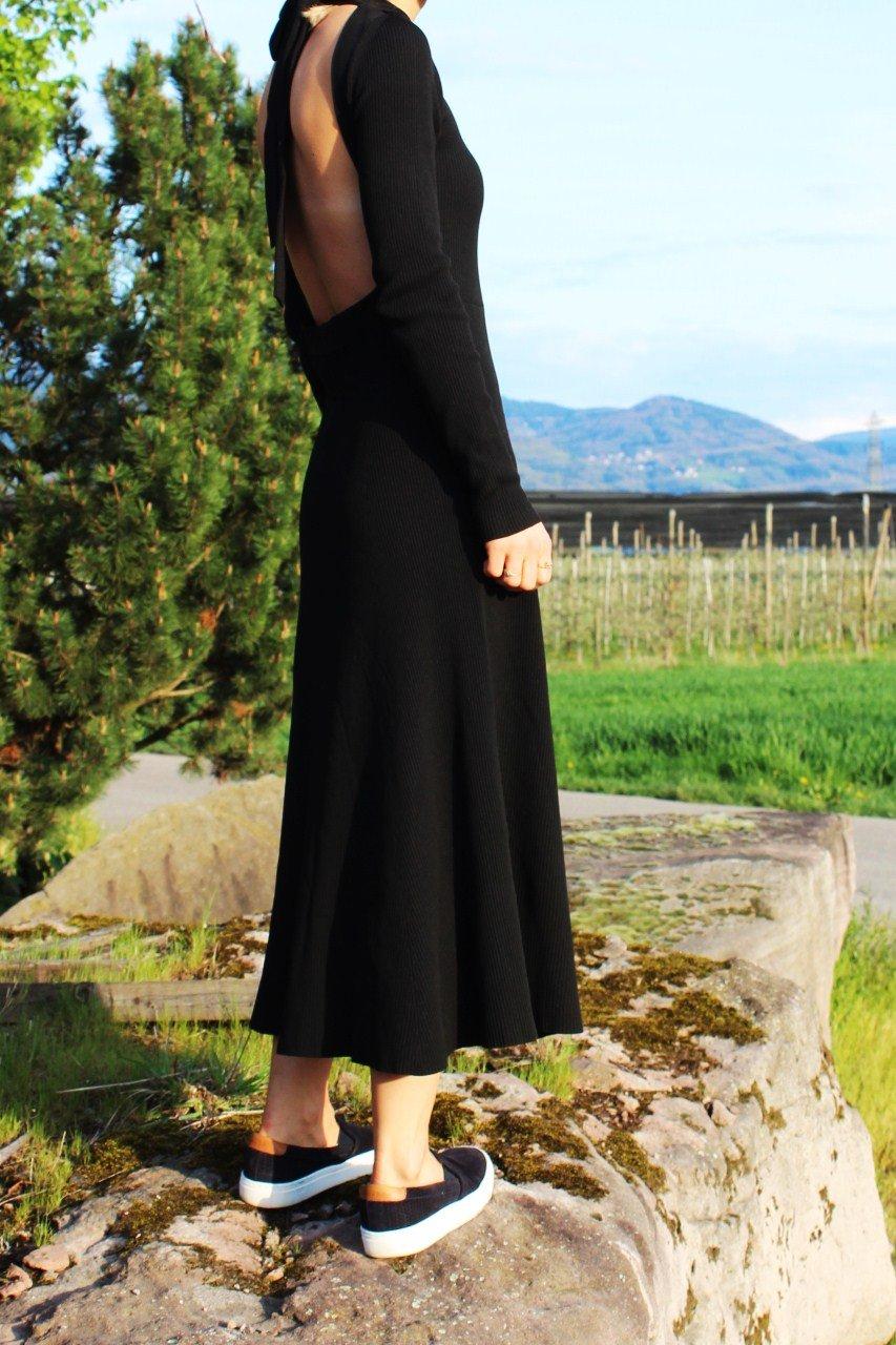 Zara Kleid schwarz Trend 2016