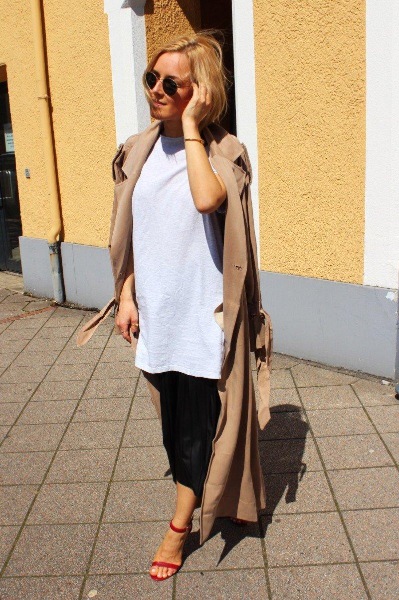 Fashion Blogger Midi Rock Plisee