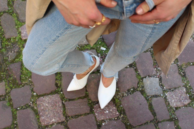 Weiße Lederballes Zara