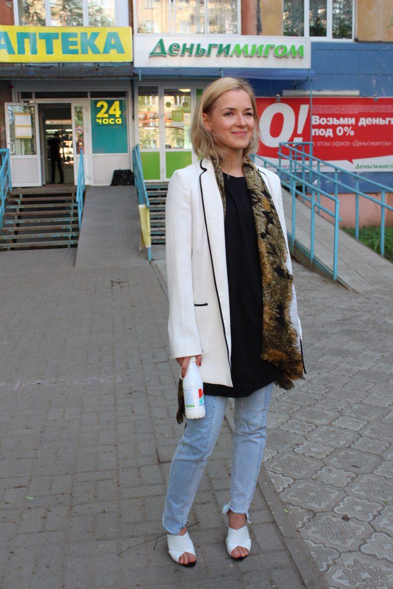 weißer Blazer Zara