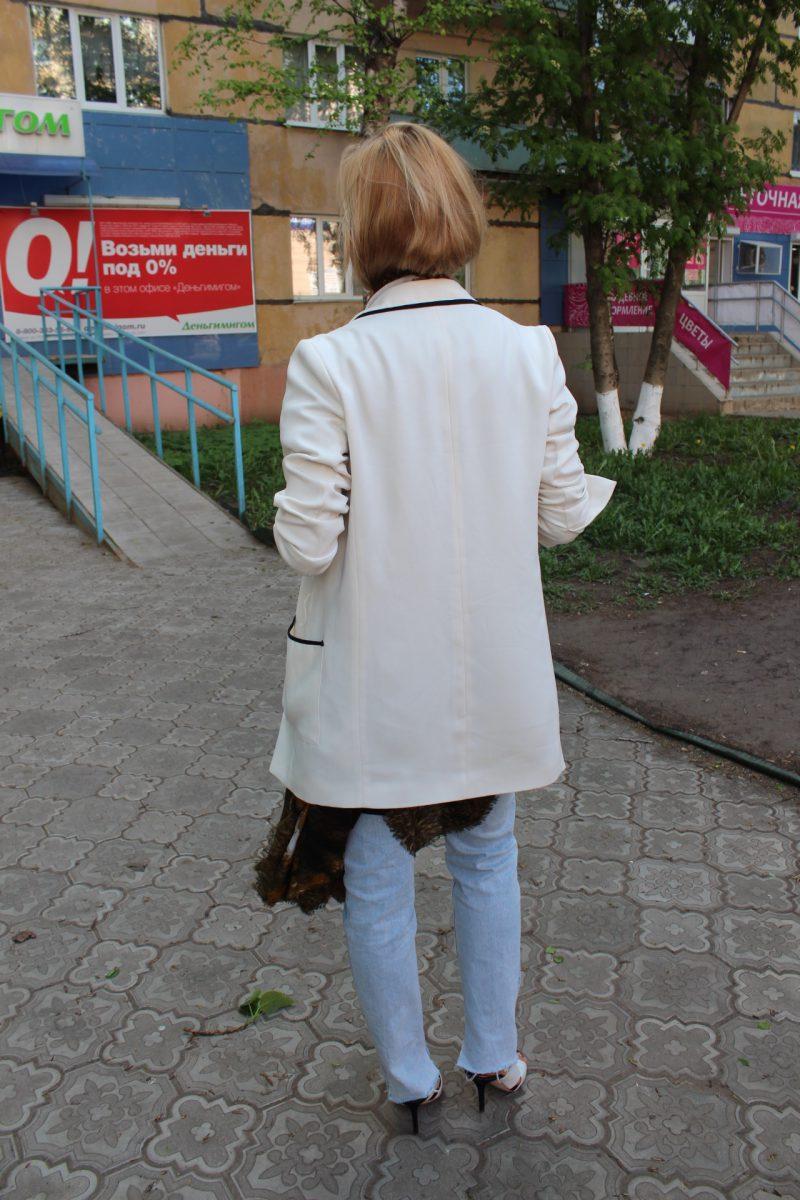 white blazer blogger stylen