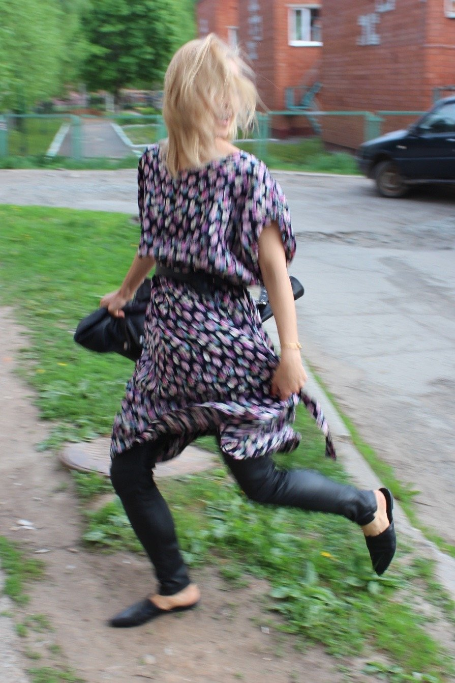 Lederhose mit Kleid kombinieren