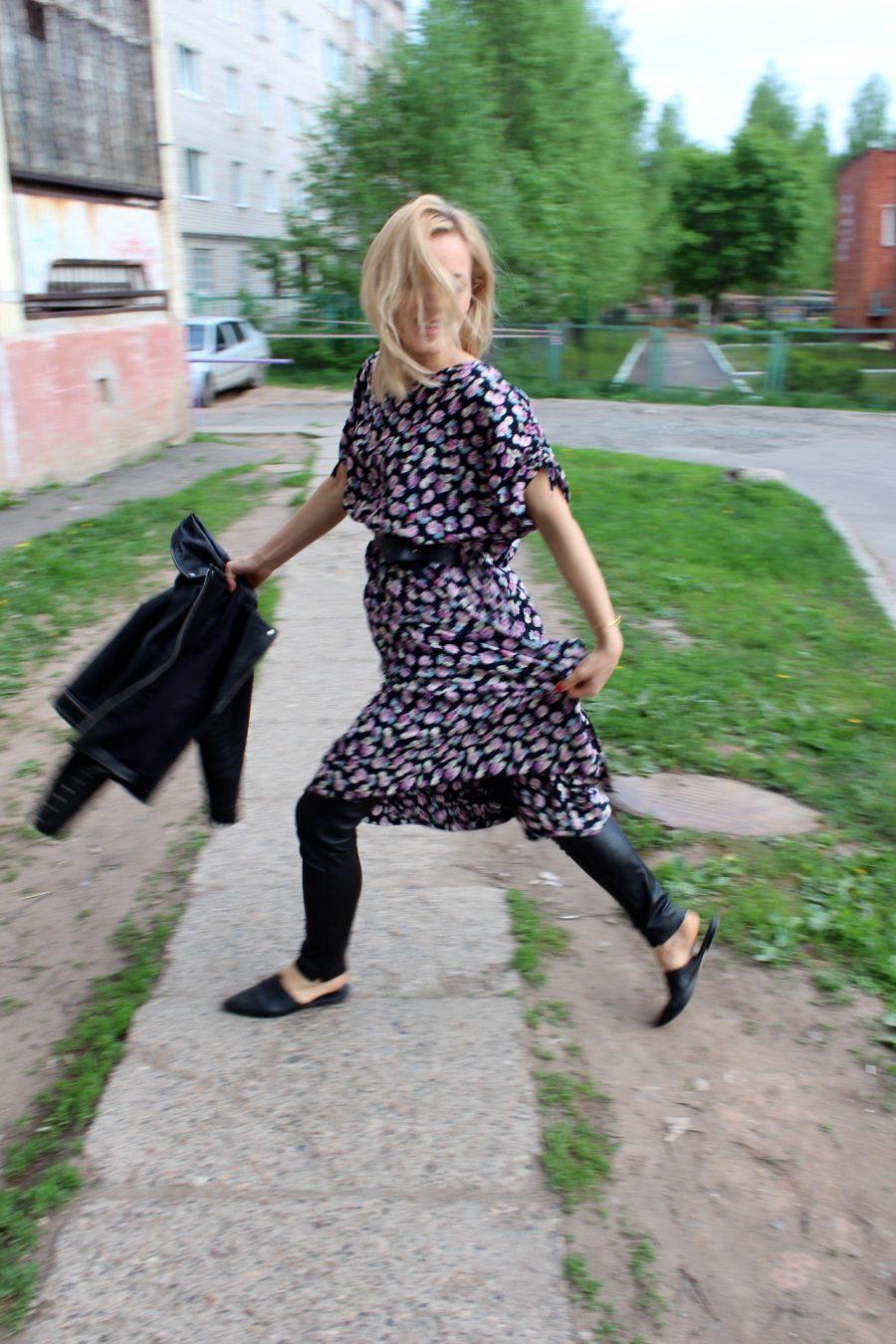 Lederhose und Kleid