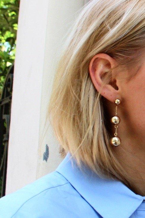 goldene perlen ohrringe H&M