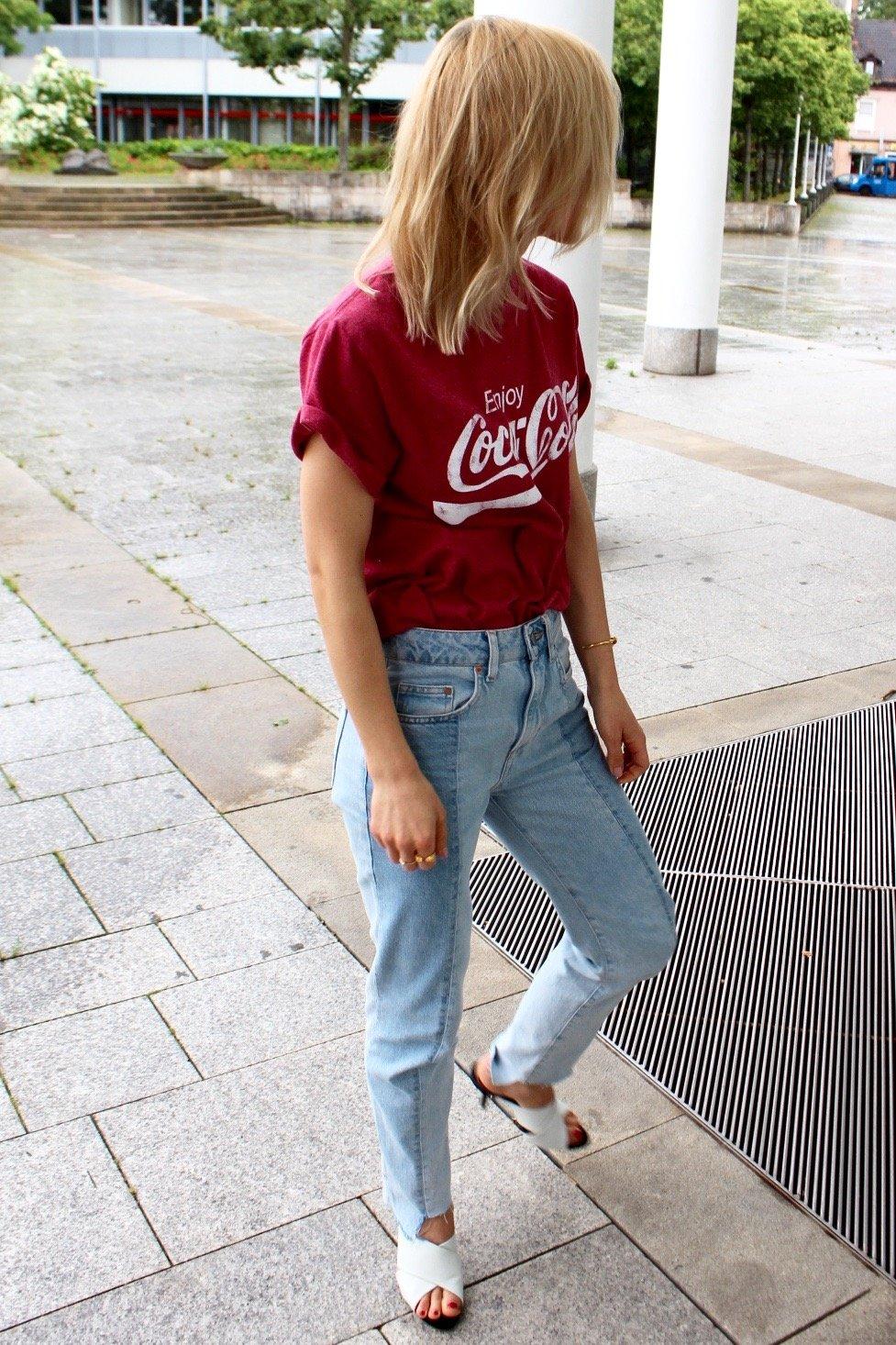 Coca Cola Shirt rosa mira duma