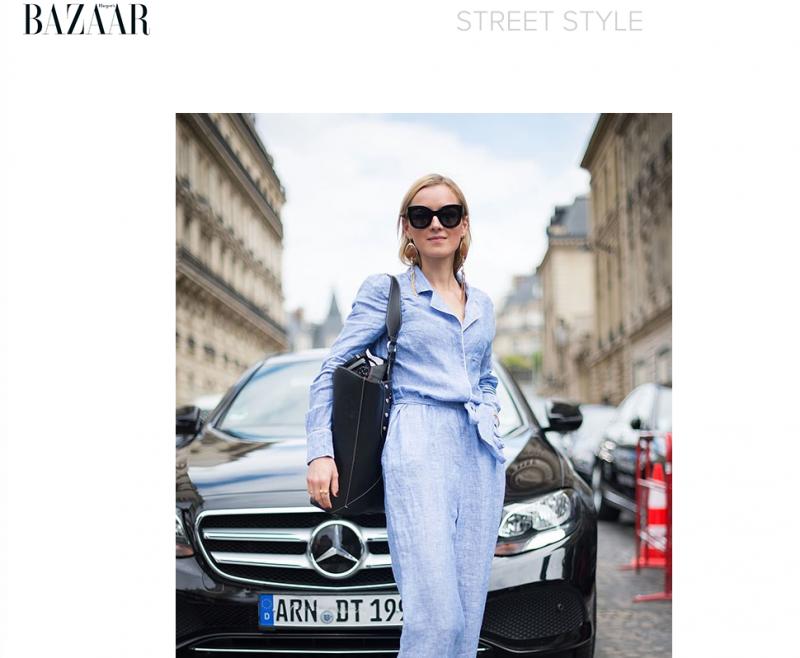 Streetstyle Look Haute Couture Paris 2016 Harpers Bazaar Australia