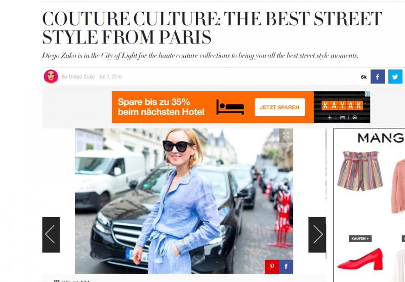 Streetstyle Harpers Bazaar Haute Couture Paris 2016