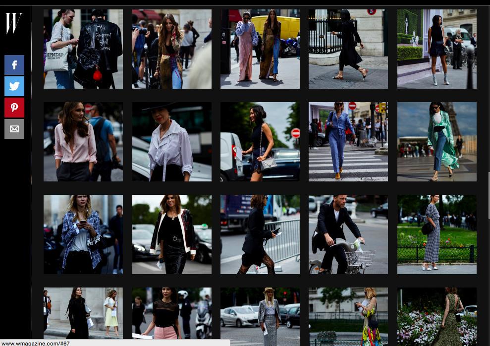 W Magazine Streetstyle Haute Couture Paris Fashion Week