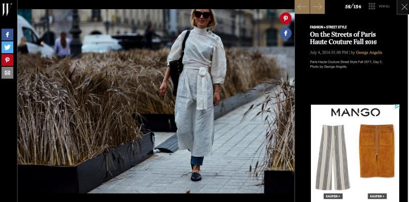 W Magazine Streetstyle Haute Couture Paris
