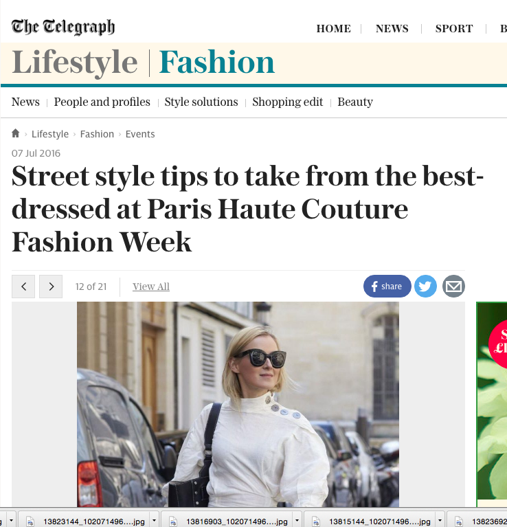 The Telegraph Streetstyle Haute Couture Paris 2016