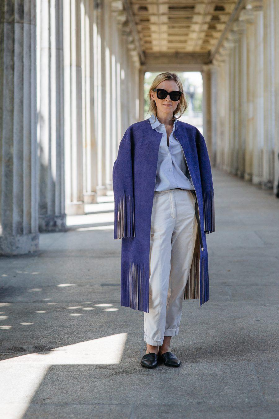 Céline Coat Blue