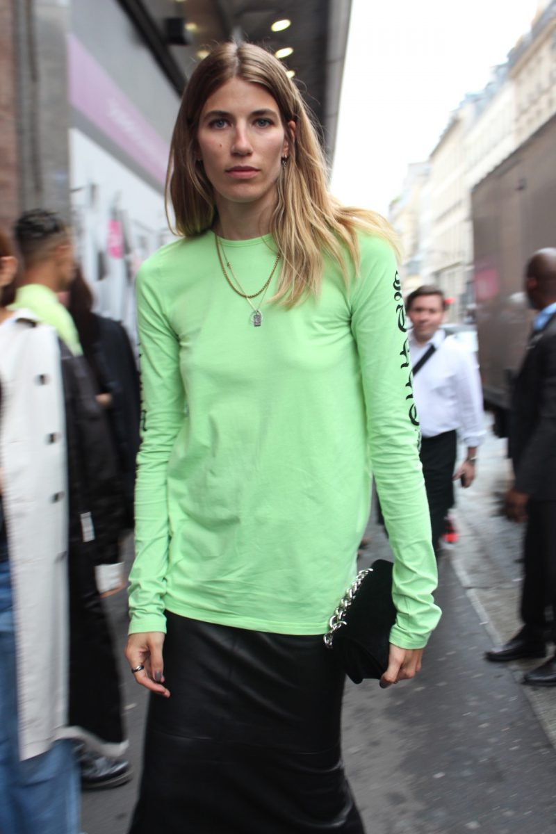 Veronika Heilbrunner, Vetements Shirt green Haute Couture Fashion Week 2017