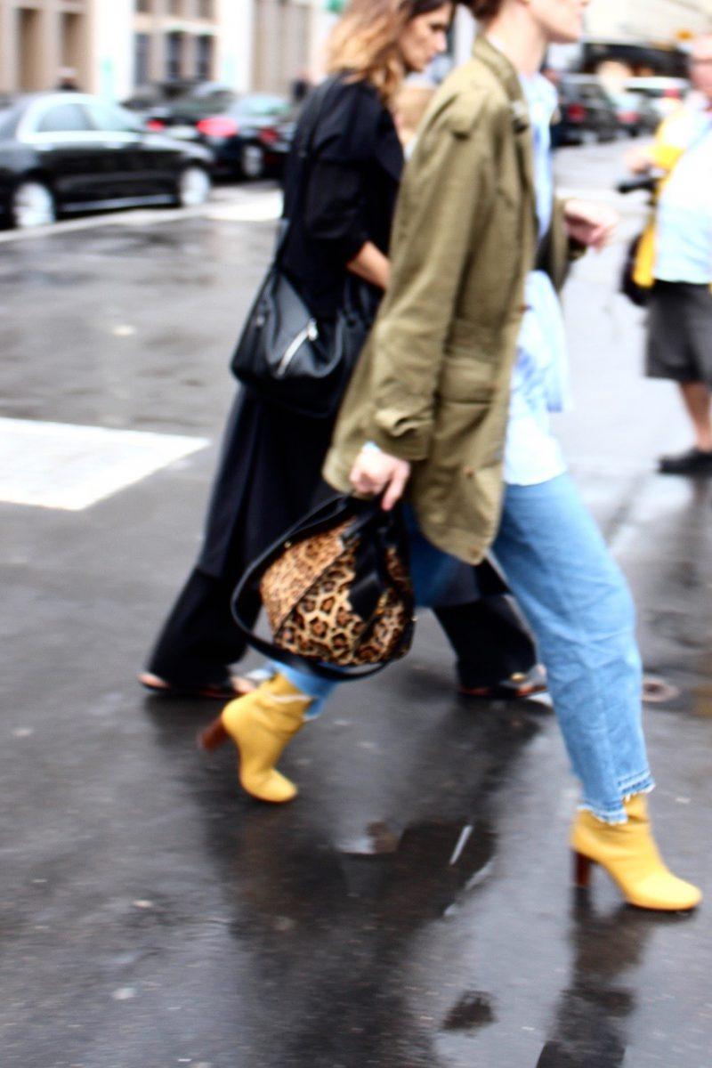 Haute Couture Fashion Week paris atelier versace Céline boots yellow
