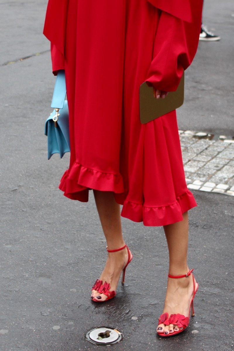 Hauet Coutue Atelier Versace, Vetemets red dress runway