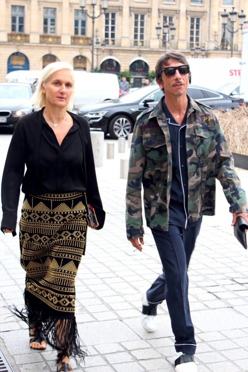 Maria Grazia Chiuri & Pierpaolo Piccioli Haute Couture Fashion Week streetstyle