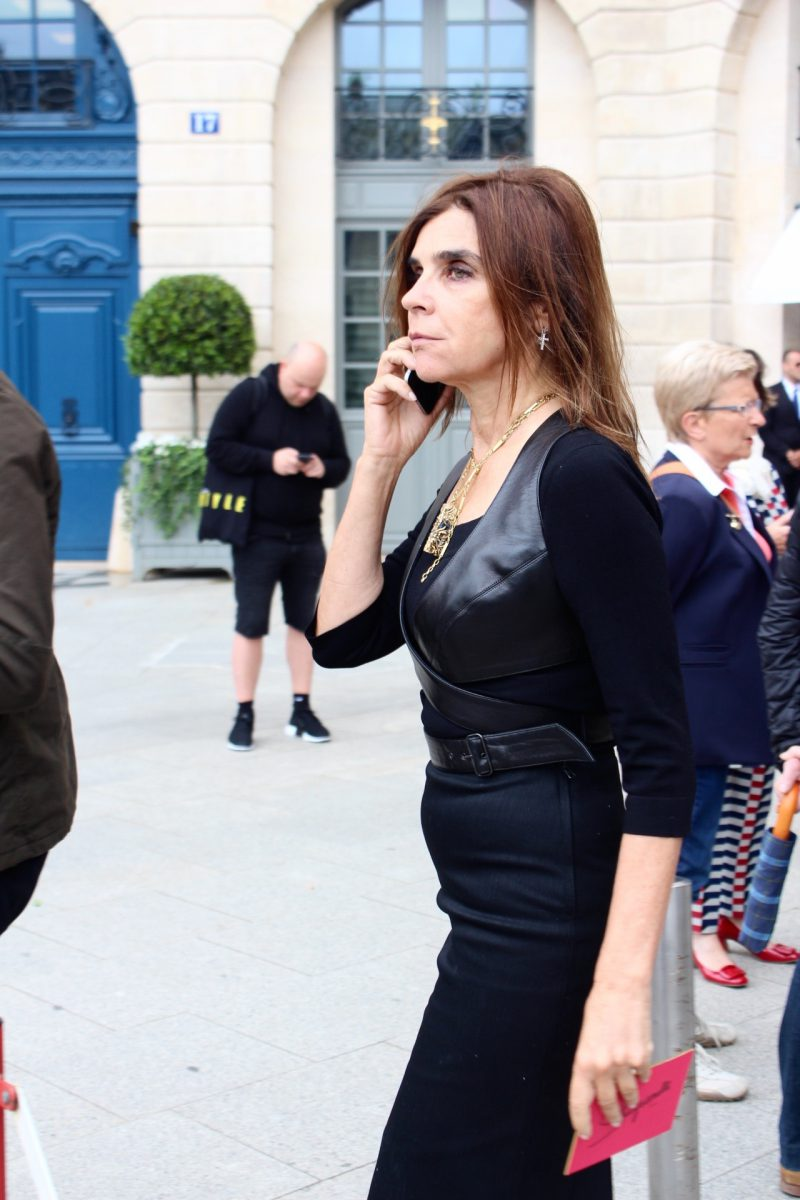 Carine Roitfeld haute Couture Fashion Week Paris