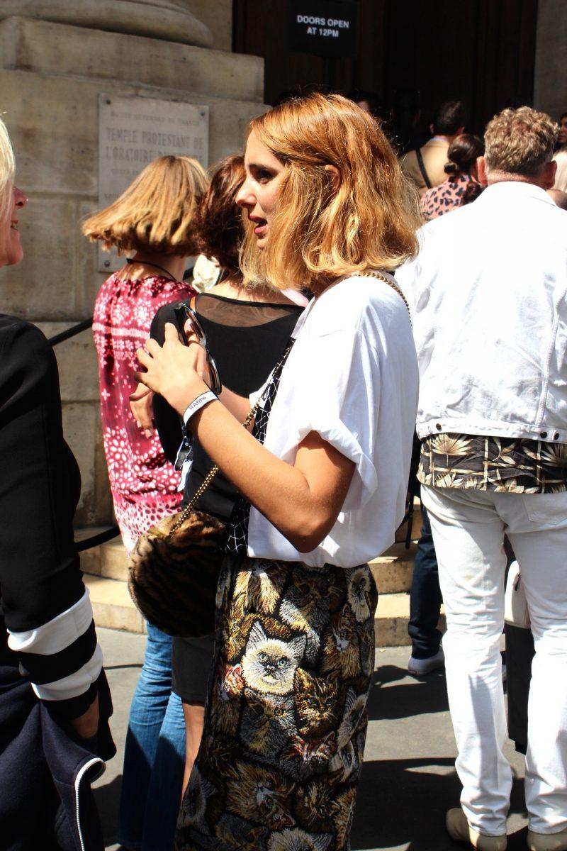 Candela Novembre Haute Couture Streetstyle Paris 2017