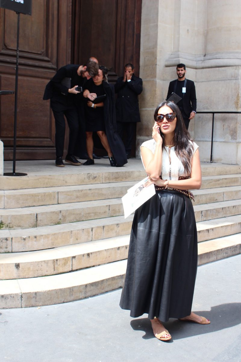 Tina Leung Streetstyle Fashion Week Paris Haute Couture in Louis Vuitton