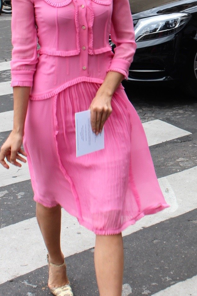 Dasha Zhukova haute Couture Fashion Week in Paris 2016 DIOR dress rosa