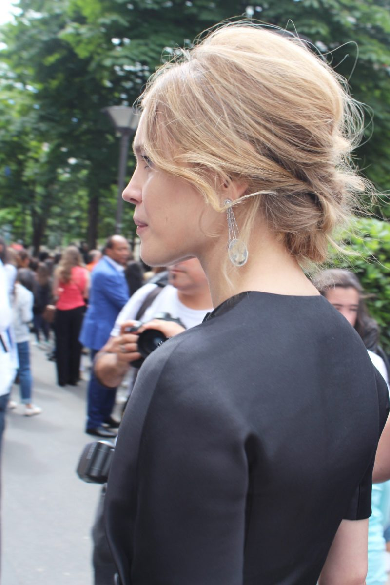 Model Natalia Vodianova Haute Couture Fashion Week in Paris Streetstyle Dior