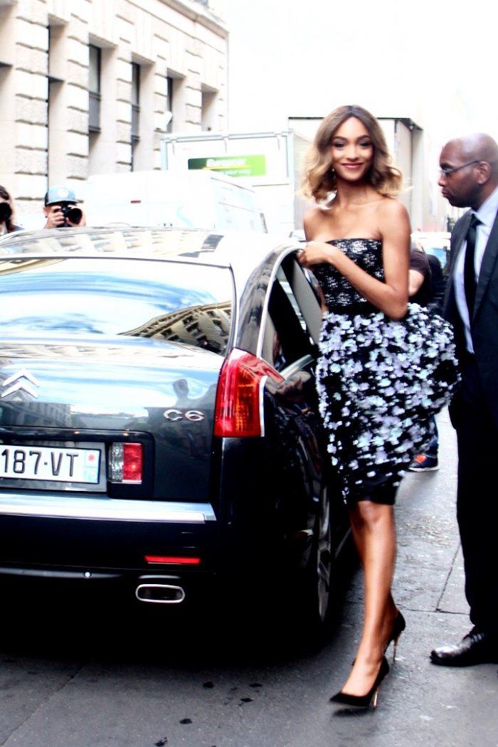 Jourdan Dunn Streetstyle haute Couture Paris 2016