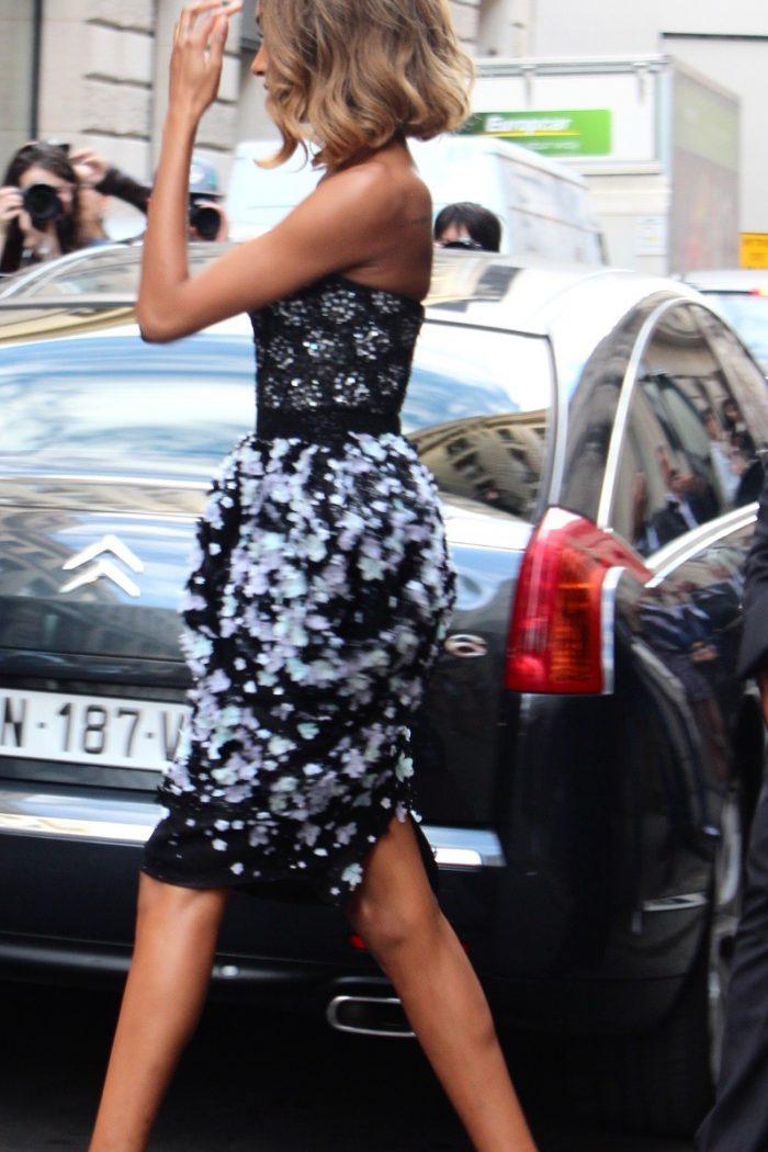 Jourdan Dunn Streetstyle Haute Couture Paris, Ralph & Russo