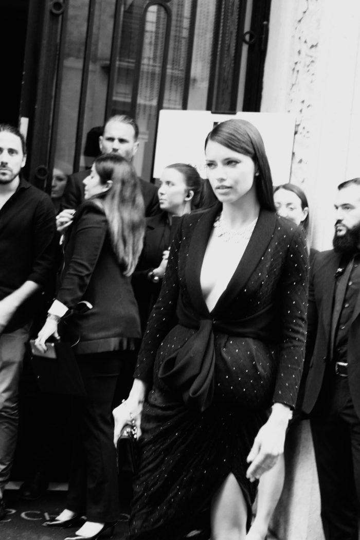 Adriana Lima Paris Haute Couture Streetstyle